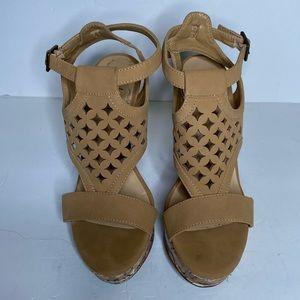 Jasmine tan wedge sandals